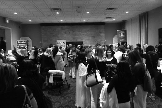 300 ladies attend the Black and White PJ Party at the Milton Banquet Hall