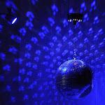 "TheLAShop 12"" Mirror Disco Ball Complete Kit Multi-Color Optional, Blue"