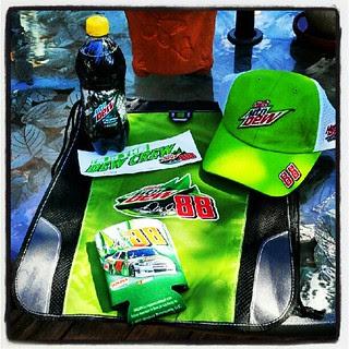 Do you dew? My #dewcrew kit arrived today. #88 #mountaindew #nascar
