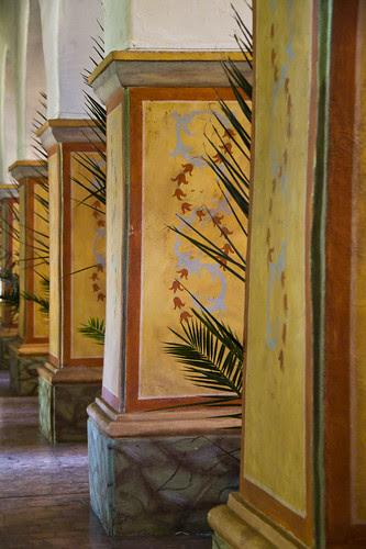 Mission San Juan Bautista columns