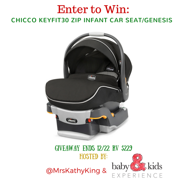 Enter the  Chicco Car Seat Giveaway. Ends 12/22