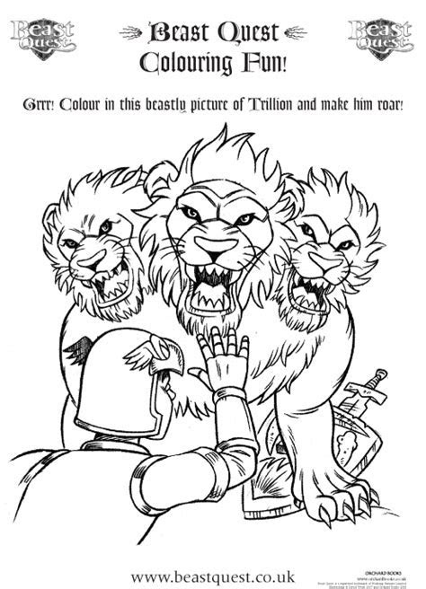 Beast Quest Colouring   Scholastic Kids' Club