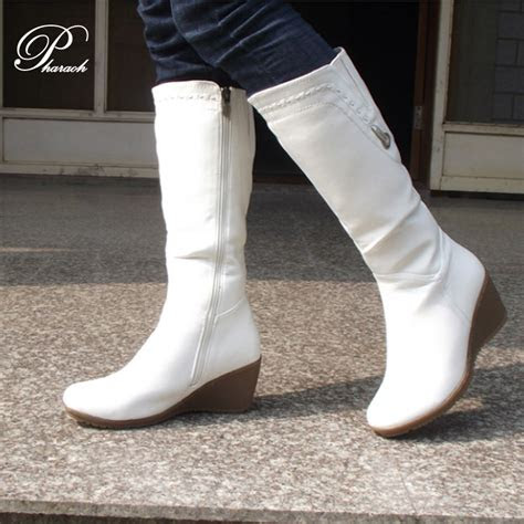 white leather boots women boot hto
