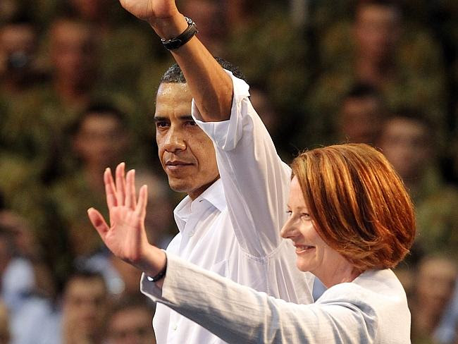 The President of the United States and former Prime Minister Julia Gillard connected when