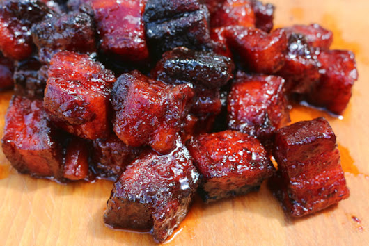 Pork Belly Burnt Ends - Smoked Pork Belly Recipe