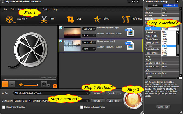 how to create mp4 video in compressor 4