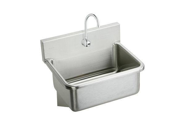 Elkay Wall Sink Handwash Scrub Stainless Steel Commercial Sinks