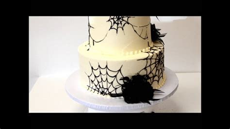 Halloween Wedding Cake   Spider Theme Cake   YouTube