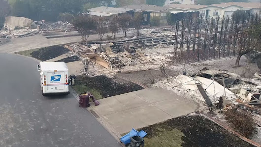 Video: USPS Mail Carrier Delivers To Burned-Out Homes In Santa Rosa : The Two-Way : NPR