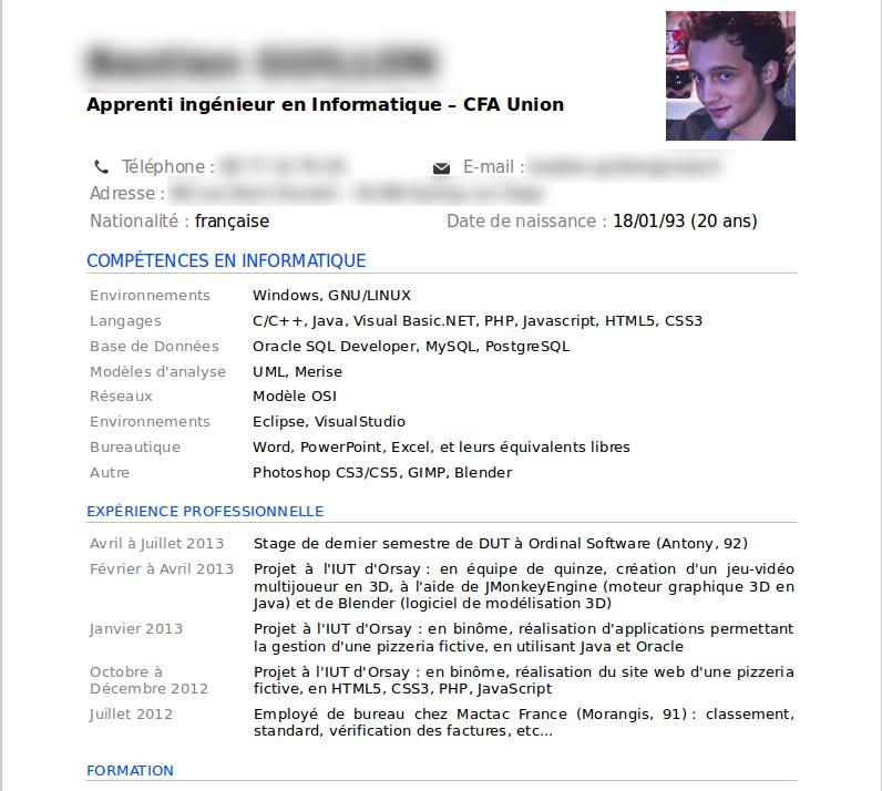 Lettre Demande De Stage Developpeur Web   Job Application ...