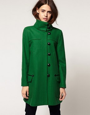 ASOS Coat With Fold Over Collar