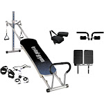 Total Gym Fitness Fusion Full Body Workout Home Exercise Machine, Grey (2 Pack) by VM Express