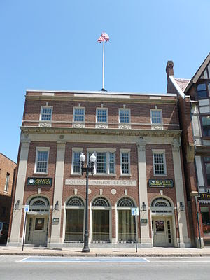 The Quincy Patriot Ledger building, located at...