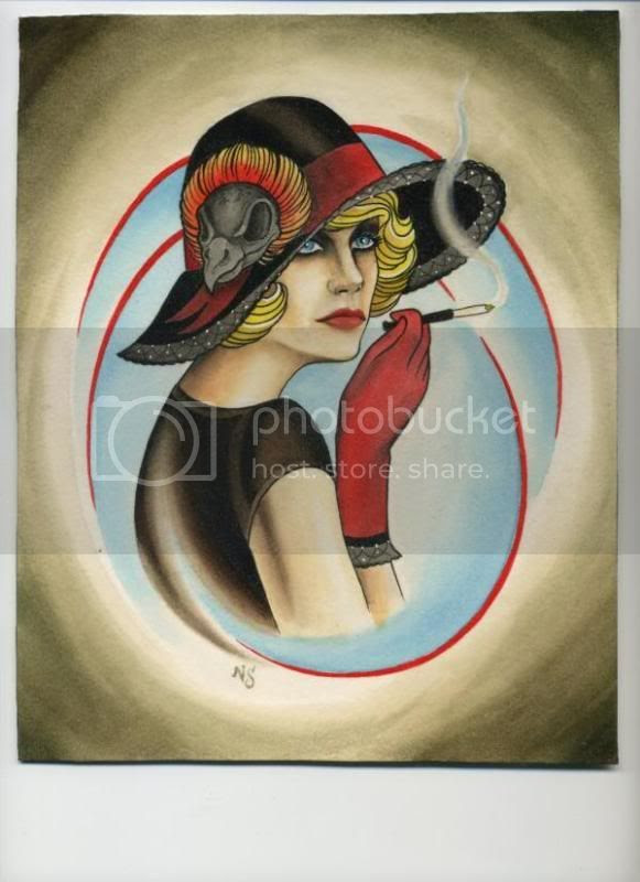 neal scoggins flapper girl painting