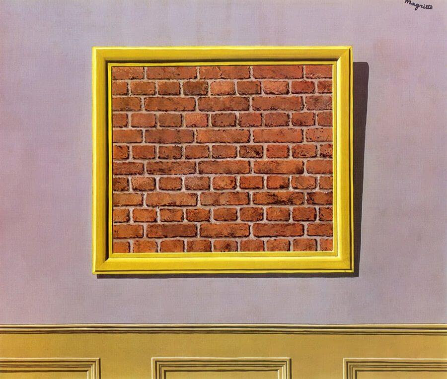 The Empty Picture Frame, 1934 by Rene Magritte