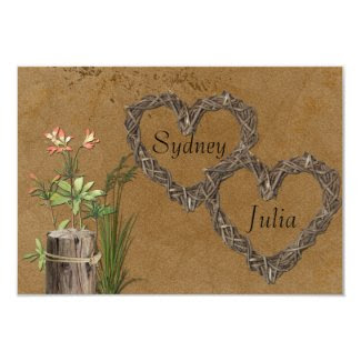 RSVP Country Rustic Hearts Invites