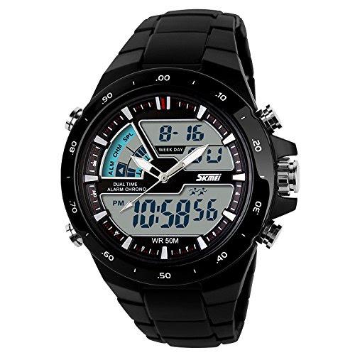 Deals on Click Skmei Analogue-Digital Grey Dial Men's Watch