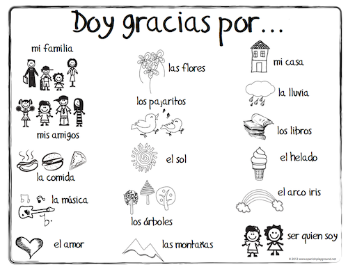 World Languages for Kids: Spanish Thanksgiving Vocabulary