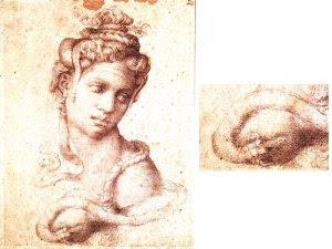 cleopatra disegno di michelangelo