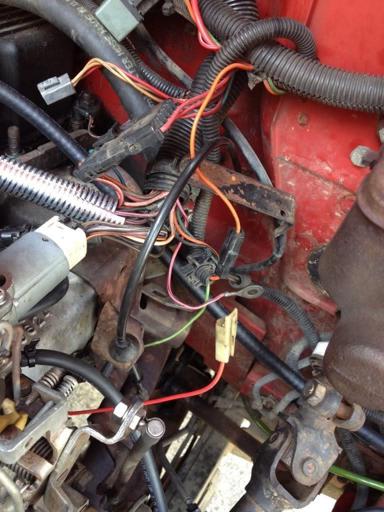 85 Cj7 With 4 2 Intake Manifold Heater Red Wire To Orange Wire Jeepforum Com