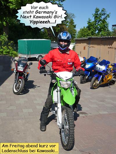 Svenja Svendura auf Kawasaki KLX250