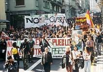 Spanish demonstrators
