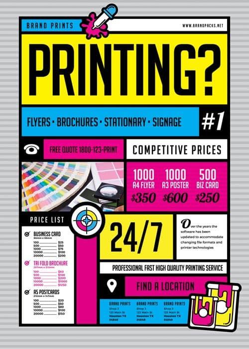 free print shop freebie flyer poster template freepsdflyer com
