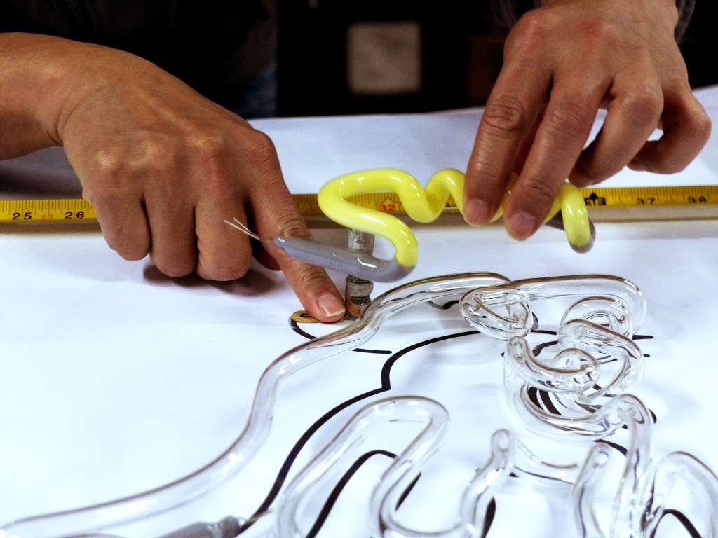 """The process of neon glass bending is featured in """"The Making of Neon Signs,"""" a specially-commissioned video produced for """"Mobile M+: NEONSIGNS.HK."""" Photo and caption courtesy of M+ Museum"""