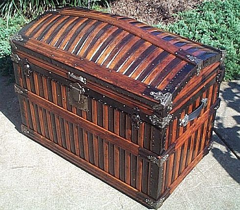 Restored Martin Maier Antique Trunks Dome Top Trunk Top Quality