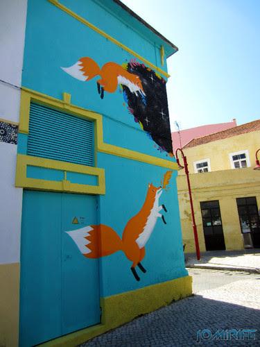 Arte Urbana by Kruella d'Enfer - Raposas, Fox portal na Figueira da Foz Portugal - Rapousas (3) [en] Urban art by Kruella d'Enfer - Foxes, Fox portal in Figueira da Foz, Portugal
