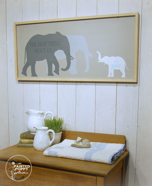 Painted Elephant Nursery Sign