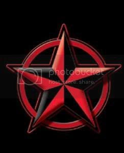 Red And Black Nautical Stars Cool Graphic