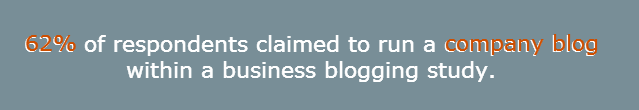 Business blogging stat