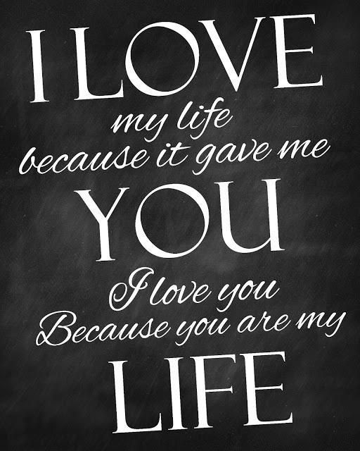 I Love You Because You Are My Life Pictures Photos And Images For