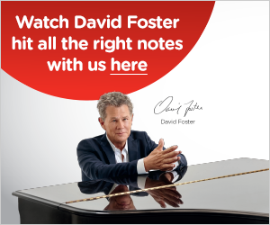 Watch David Foster hit all the right notes with us!