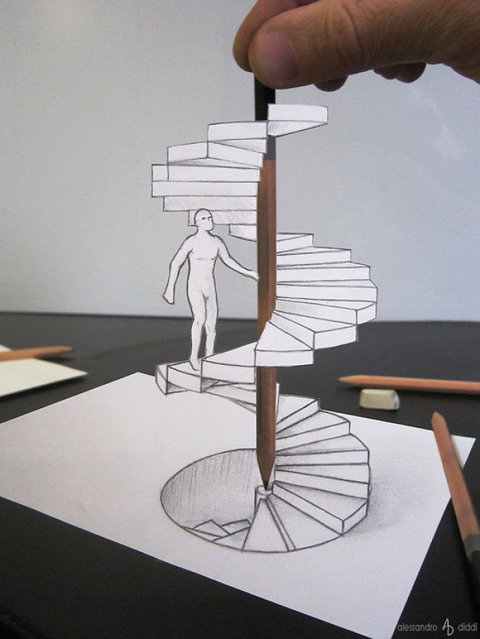 Italian Artist Brings His 3D Drawings To Life By Making ...