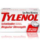 Tylenol Regular Strength Tablets, 325 Mg, 100 Count