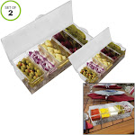 Evelots Chilled Condiment Server w/ 5 Compartments,Removable Containers-Set/2 7072