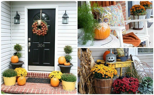 Warmness On Low Temperatures: Fall Porch Decor Ideas | World inside pictures