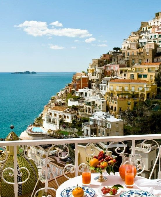View  from the balcony, Positano