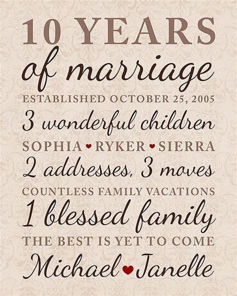 10 Year Anniversary Gift Wedding Anniversary Important