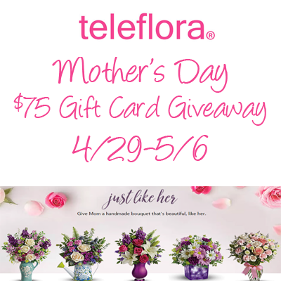 Teleflora Mother's Day $75 Giveaway - ends 5/6 - Literary Winner
