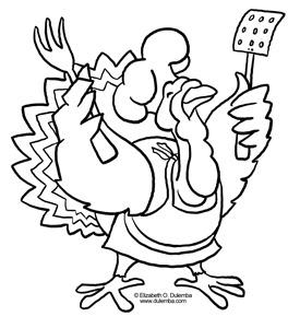 dulemba: Coloring Page Tuesday! - Turkey Chef