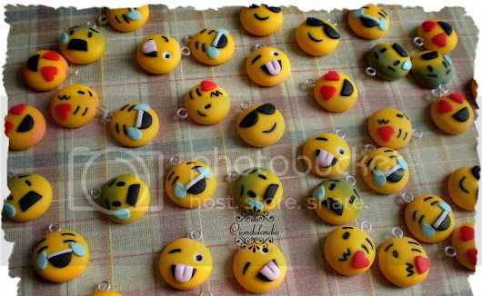 Charms Ciondoli Emoji, Emoticons, Smile Fimo