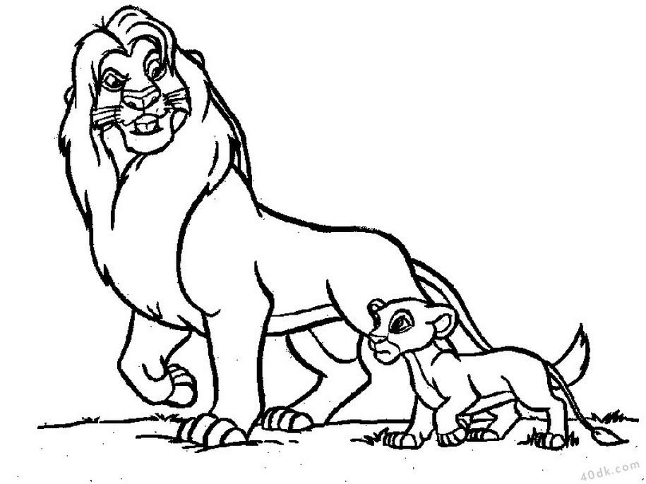 82 Adet Aslan Kral Boyama Sayfası
