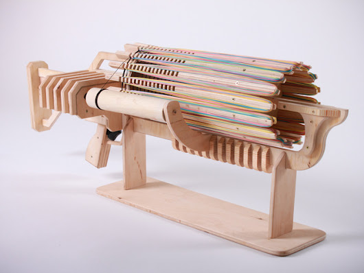 Rubber Band Machine Gun with unique Fast Charger