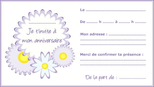 Imprimer Une Carte D Invitation D Anniversaire Nanaryuliaortega Blog