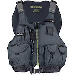 NRS Chinook Fishing PFD Life Jacket, Charcoal, S/M