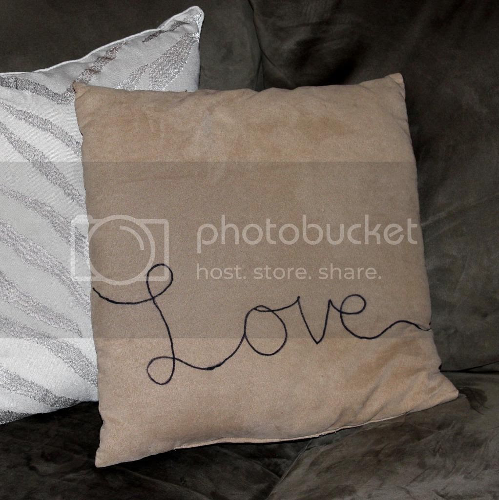DIY Love Script Pillow