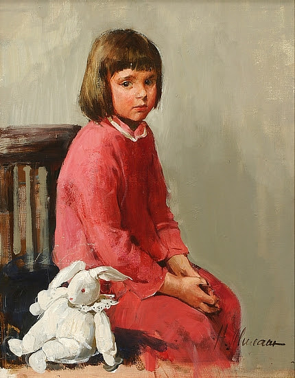 Anja With Rabbit Toy